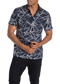 Perry Ellis Slim Fit Short Sleeve Shattered Shirt