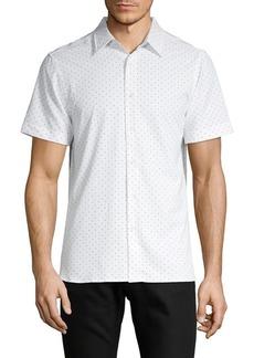 Perry Ellis Slim-Fit Stretch Dot-Print Shirt