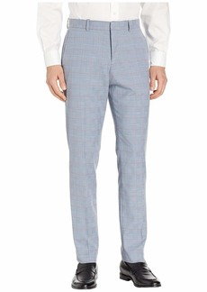 Perry Ellis Slim Fit Stretch Plaid with Contrast Stripe Dress Pants