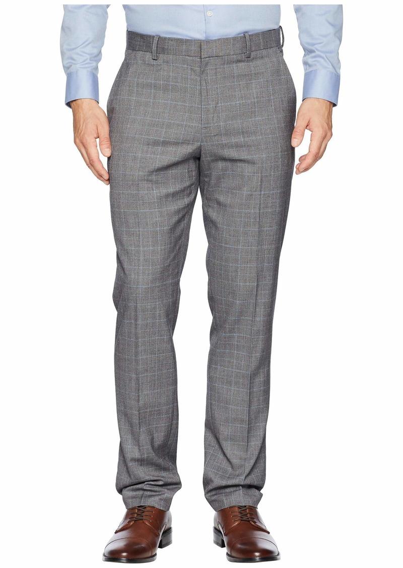 Perry Ellis Slim Fit Tonal Plaid Dress Pants