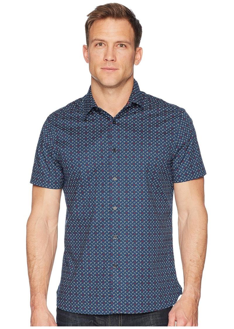 Perry Ellis Slim Stretch Mini Floral Dot Shirt
