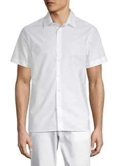 Perry Ellis Slub Space Dyed Cotton Button-Down Shirt