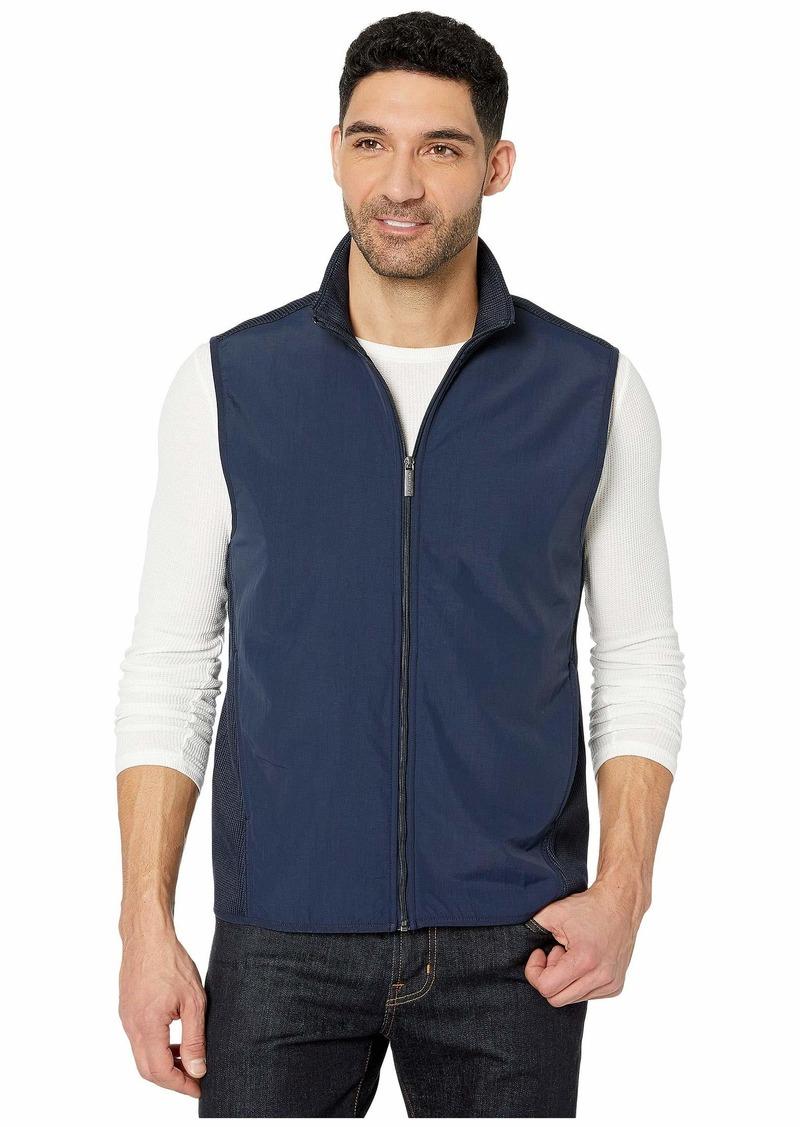 Perry Ellis Solid Stretch Full Zip Fleece Sleeveless Vest