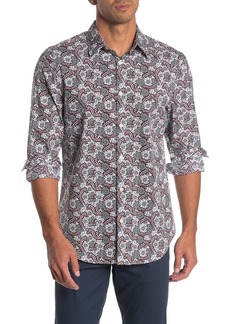 Perry Ellis Static Print Stretch Slim Fit Shirt