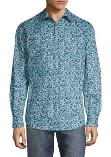 Perry Ellis Stretch-Fit Floral Shirt