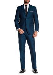 Perry Ellis Teal Woven Two Button Notch Lapel Slim Fit Suit