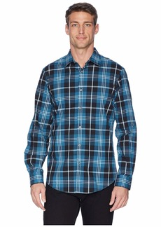 Perry Ellis Total Stretch Oversize Exploded Plaid Shirt