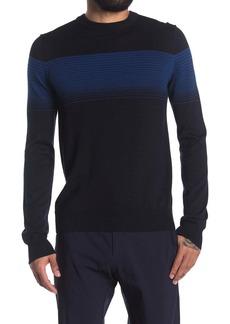 Perry Ellis Variegated Stripe Pullover Sweater