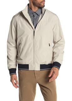 Perry Ellis Water Resistant Stripe Banded Zip Jacket