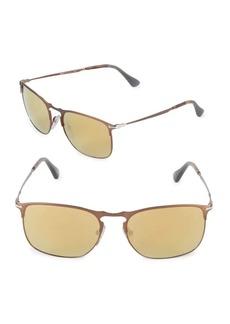 Persol 52MM Square Mirrored Sunglasses
