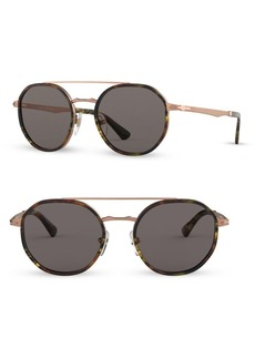 Persol 53MM Vintage Round Sunglasses
