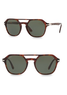 Persol 54MM Tortoiseshell Aviator Sunglasses