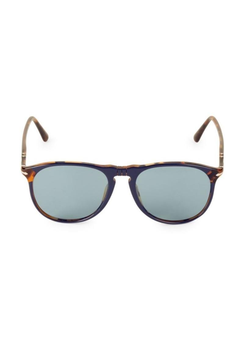Persol 55MM Havana Wayfarer Sunglasses