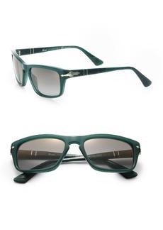 Persol 55MM Rectangle Acetate Sunglasses