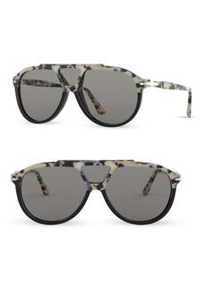Persol 59MM Three-Lens Pilot Sunglasses
