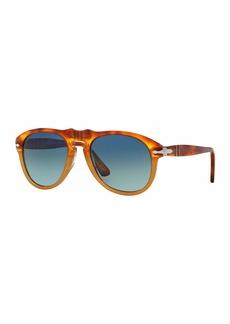Persol 649-Series Acetate Sunglasses  Gray/Tortoise