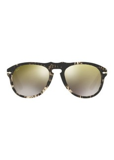 Persol 649-Series Mirrored Aviator Sunglasses