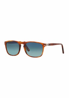 Persol Men's Flat-Top Square Sunglasses - Gradient Polarized