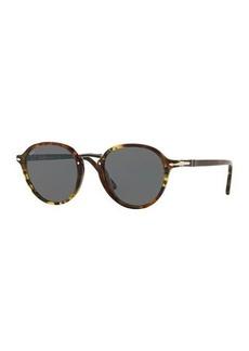 Persol Men's PO3184S Round Acetate Sunglasses