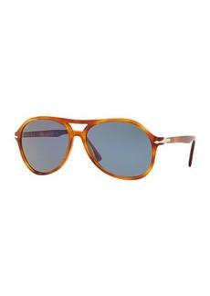 Persol Men's PO3194S Propionate Aviator Sunglasses - Solid Lenses