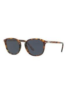 Persol Men's Tortoiseshell Round Sunglasses