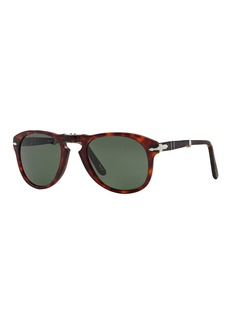 Persol Men's Two-Tone Acetate Pilot Sunglasses