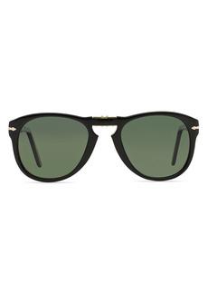 Persol Men's 0714 Polarized Vintage Icons Foldable Sunglasses, 52mm