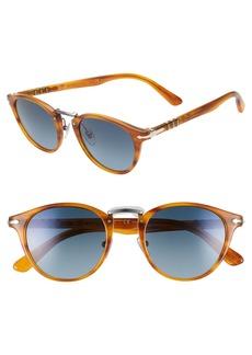 Persol 49mm Polarized Round Sunglasses