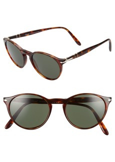 Persol 50mm Round Sunglasses