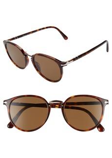Persol 51mm Polarized Round Sunglasses