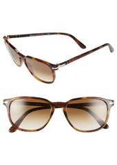 Persol 53mm Square Keyhole Sunglasses