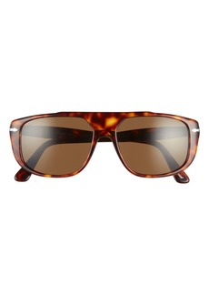 Persol 54mm Polarized Rectangle Sunglasses