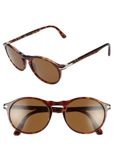 Persol 54mm Polarized Round Sunglasses