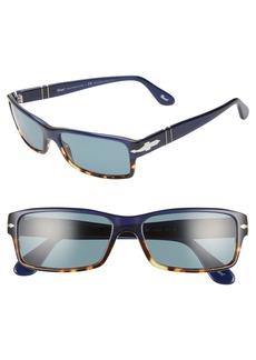Persol 57mm Polarized Photochromatic Rectangle Sunglasses