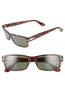 Persol 57mm Rectangle Sunglasses
