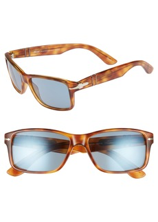 Persol 58mm Gradient Rectangle Sunglasses