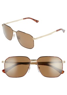 Persol 58mm Polarized Navigator Sunglasses