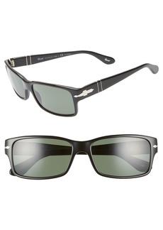 Persol 58mm Polarized Square Sunglasses