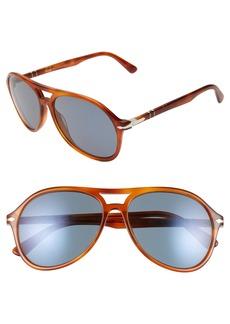 Persol 59mm Aviator Sunglasses