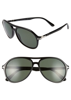 Persol 59mm Polarized Aviator Sunglasses