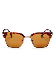 Persol Low Base Polarized Square Sunglasses, 53mm