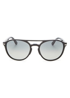Persol Men's Brow Bar Round Sunglasses, 55mm
