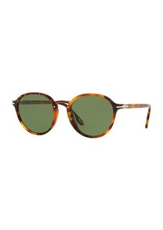 Persol Men's PO3184S Round Acetate Sunglasses