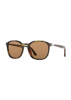 Persol Men's PO3215S Round Acetate Sunglasses