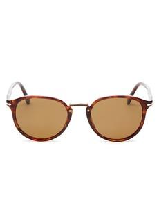 Persol Men's Polarized Round Sunglasses, 51mm