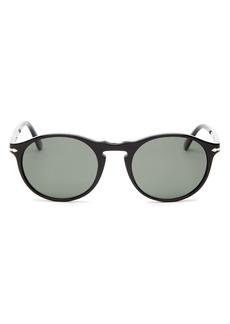 Persol Men's Polarized Round Sunglasses, 54mm