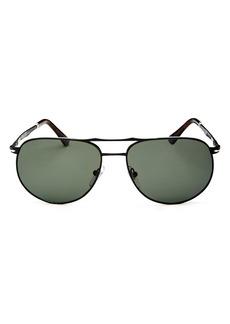 Persol Men's Sartoria Brow Bar Aviator Sunglasses, 52mm