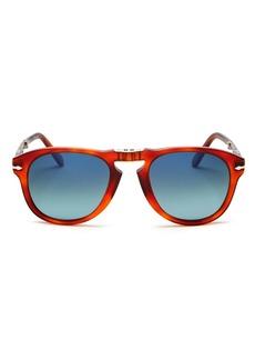 Persol Men's Steve McQueen� Polarized Foldable Round Sunglasses, 54mm