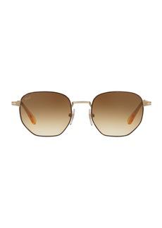 Persol Metal Universal Fit Pilot Sunglasses with Gradient Lenses