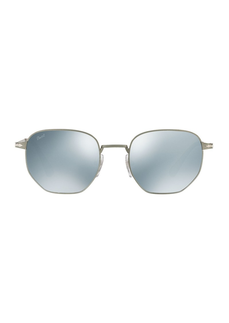 6bf48e96f6 Persol Persol Metal Universal Fit Pilot Sunglasses with Mirrored ...